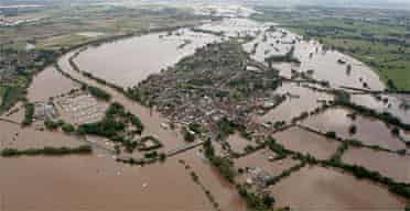 An aerial view of Upton-upon-Severn in Worcestershire