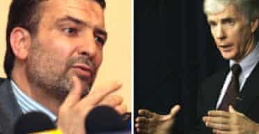 The Iranian ambassador to Iraq, Hassan Kazemi-Qomi, and his US counterpart, Ryan Crocker