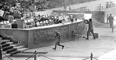 The assassination of the Egyptian president Anwar Sadat in 1981 by Islamic militants