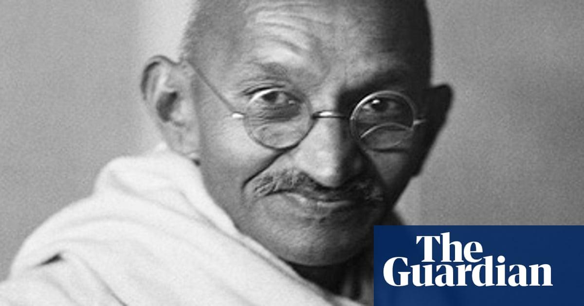 Mahatma Gandhi is seen as a saintly, almost godlike figure