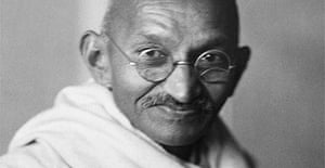 Mahatma Gandhi, leader of campaigns of nonviolence and civil disobedience in the Indian Independence struggle, seen here in India in 1941