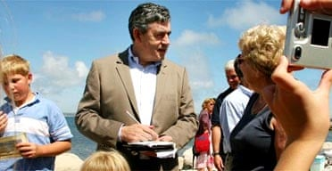 Gordon Brown on a visit to Weymouth earlier this month
