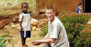 Prince Harry worked with Lesotho Aids orphans in 2004