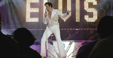 Elvis impersonator Matt Lewis performs during the Legends in Concert show at the Imperial hotel and casino in Las Vegas.
