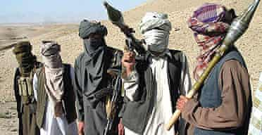 Taliban fighters in Zabul province, south of Kabul, Afghanistan, in October 2006.
