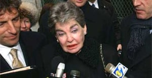 Leona Helmsley outside court in 2003. Photograph: Louis Lanzano/AP