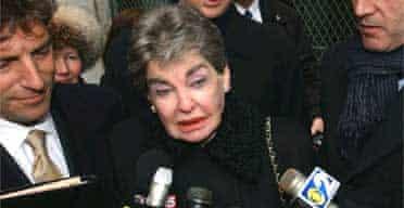 Leona Helmsley outside court in 2003. Photograph: Louis Lanzano/AP