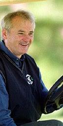 Bill Murray at the wheel of a golf cart