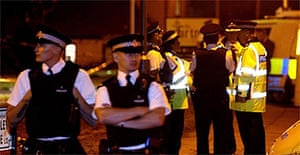 The scene in Croxteth, Liverpool, after an 11-year-old boy was shot dead in a pub car park