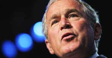George Bush speaks at the 89th annual American Legion convention in Reno, Nevada.