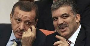 Tayyip Erdogan (l) and Abdullah Gul