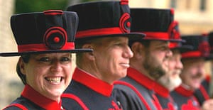 Moira Cameron, the first female Beefeater