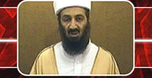 An image purportedly of Osama bin Laden appears on the as-Sabah website with an announcement that he is to appear in a new video