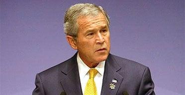 George Bush addresses the Apec forum
