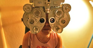 A patient is examined at the Pando Ferrer eye hospital in Havana. More than 370,000 people have had operations since July 2004 under the Miracle Operation scheme, which is run jointly by Cuba and Venezuela to bring healthcare to the poor