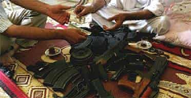 Militias buying trafficked weapons