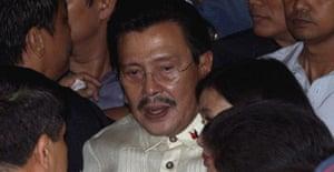 Former Philippines president Joseph Estrada