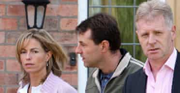 The McCanns and their new spokesman, Clarence Mitchell