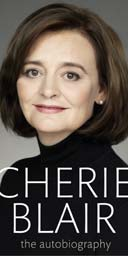 A draft of the cover for Cherie Blair: the autobiography