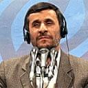 The Iranian president, Mahmoud Ahmadinejad
