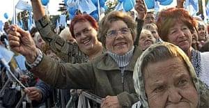 Voters welcome Viktor Yanukovich