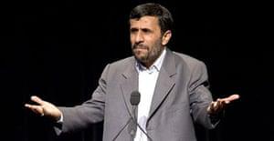Iran's president, Mahmoud Ahmadinejad, speaks at Columbia University