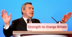 Gordon Brown delivers his keynote speech