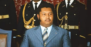 A 1975 image of the then-president of Haiti, Jean-Claude 'Baby Doc' Duvalier