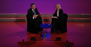 Gordon Brown gives a question and answer session