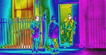 Thermal image of Downing Street