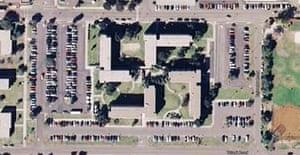The Coronado US navy base in southern California, as seen on Google Earth