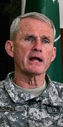 The Nato commander in Afghanistan, General Dan McNeill