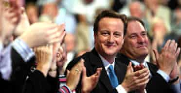David Cameron at the Conservative party conference in Blackpool