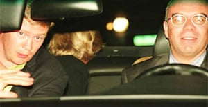 Handout photograph taken shortly before the car crash that killed Diana, Princess of Wales, Dodi Fayed and Henri Paul . It was shown to the jury at the inquest into the princess's death