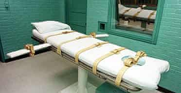 The execution chamber at the Texas department of criminal justice in Huntsville, USA.
