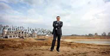 Aras Agalarov in front of his housing estate for the super-rich