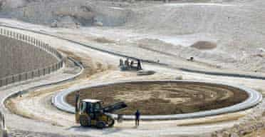 Construction workers in the West Bank