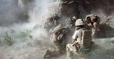 Royal Welsh troops in Afghanistan.