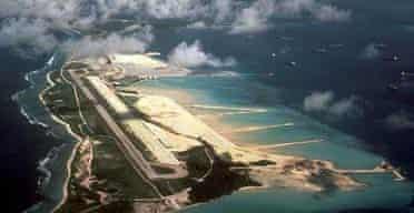 Diego Garcia island in the Indian Ocean
