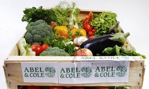 An Abel & Cole delivery box