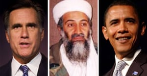 Mitt Romney, Osama bin Laden and Barack Obama. Or is it?