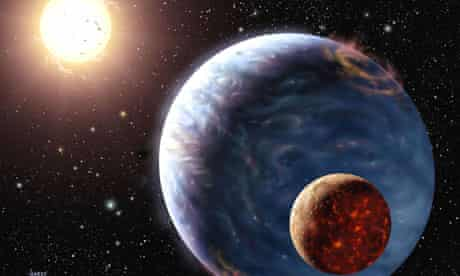 Artist's impression of how planets beyond our solar system might look.