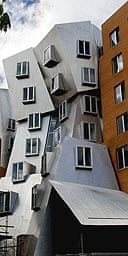 South side view of MIT's Stata centre in Cambridge, Massachusetts.