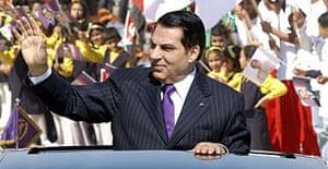 Tunisia's long-standing president, Zine al-Abidine Ben Ali
