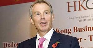 Tony Blair speaking in Hong Kong this week