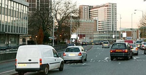 Traffic in Croydon town centre