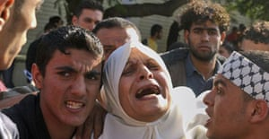 A Palestinian woman in Gaza