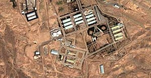A suspected Iranian nuclear research facility