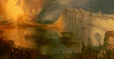 The Burning of the Houses of Lords and Commons, 16th October, 1834 (1835) by Joseph Mallord William Turner is on display at the National Gallery of Art in Washington. Image: McClatchy