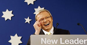 New Australian Pm Rudd Talks Climate Change With Gore World News The Guardian
